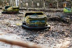 Autodrome i Pripyat Arkivbilder