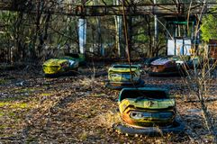 Autodrome i Pripyat Arkivfoto