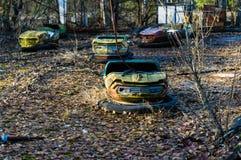 Autodrome i Pripyat Royaltyfri Fotografi