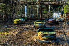 Autodrome in Pripyat Stock Foto
