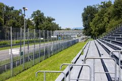 Monza, Italy. The Autodromo Nazionale Monza, a race track located near the city of Monza, north of Milan, in Italy Royalty Free Stock Photo