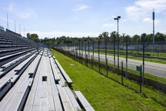 Monza, Italy. The Autodromo Nazionale Monza, a race track located near the city of Monza, north of Milan, in Italy Stock Image