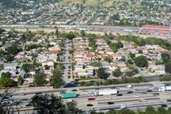 Autoestrada de Los Angeles Fotografia de Stock Royalty Free
