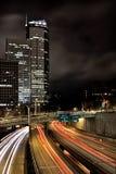 Autoestrada de Seattle na noite Fotos de Stock Royalty Free