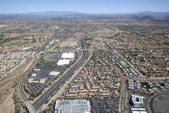 Autoestrada e telhados do nanowatt Phoenix fotos de stock