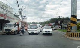 Autoestrada nacional de Davao-Bukidnon em Ulas Imagens de Stock Royalty Free