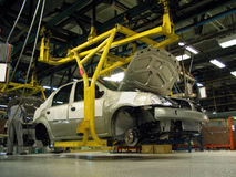 Autofabrik Lizenzfreies Stockfoto