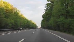 Autofahren auf Landstraße A1 stock video footage