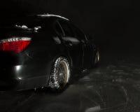 Autofahren nachts Stockbild