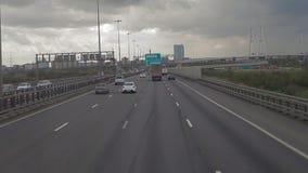 Autofahrt auf der Autobahn stock footage