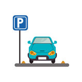 Autofahrzeug und Parkzonendesign Lizenzfreie Stockfotos