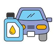 Autofahrzeuggallonen-Öl-Automobilservice lizenzfreie abbildung