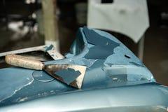 Autofarbverschlechterung lizenzfreies stockbild
