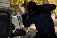 Autofenstereinbruch Lizenzfreies Stockfoto