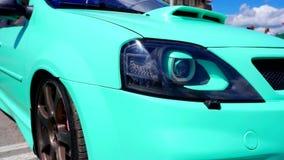 Autofestival in de stad van Tula Russische Federatie De zomer van 2015 stock footage