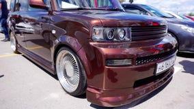 Autofestival in de stad van Tula Russische Federatie De zomer van 2015 stock videobeelden