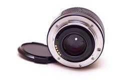 Autofocus lens isolated. Modern autofocus AF lensisolated on white stock image