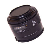 Autofocus lens isolated. Modern autofocus AF lensisolated on white Royalty Free Stock Images