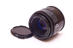 Autofocus lens isolated. Modern autofocus AF lensisolated on white Royalty Free Stock Image