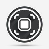 Autofocus zone sign icon. Photo camera settings. Royalty Free Stock Photography