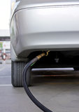 Autogas lpg-Kraftstoffnachfüllung Lizenzfreies Stockfoto