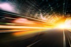 Autogeschwindigkeit, dynamischer Hintergrund stockfotos