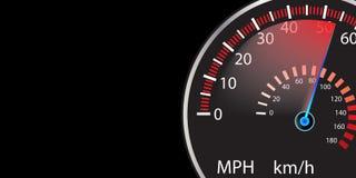 Autogeschwindigkeitsmesser-Zusammenfassungshintergrund lizenzfreie abbildung