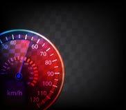 Autogeschwindigkeitsmesserhintergrund lizenzfreie abbildung