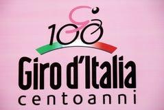 Autogiro 100° d Italien - das Zeichen Lizenzfreie Stockbilder