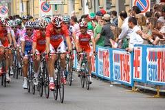 Autogiro d'Italia 2009 - Rennen in Mailand Stockbild