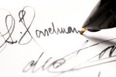 Autografo. immagine stock