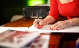 Autografo per i lettori ed i fan Immagini Stock Libere da Diritti