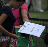 Autograh hunters , The Players, TPC Sawgrass, FL Stock Photography
