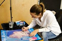 Autograph Barbora Polakova Stock Image