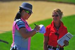 Autographe de signature de Christina Kim LPGA photographie stock