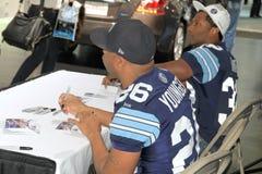 Autographs van Toronto Argonauts het Ondertekenen Stock Foto