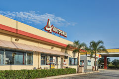 Autogrill Restaurant And Shop In Sicily Stock Photography