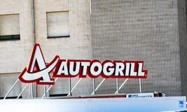 Autogrilluithangbord stock foto