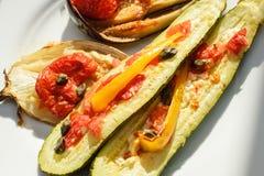 Autoguidez l'aubergine faite d'aubergine cuite au four en Owen Photos libres de droits