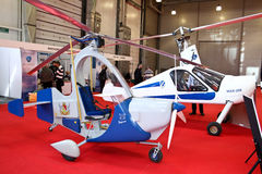 Autogyro MAI-208 and Barsik Royalty Free Stock Photos