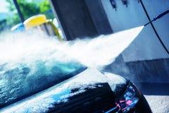 Autohandwaschanlage-Reinigung Lizenzfreie Stockfotos