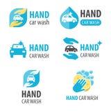 Autohandwaschanlagelogo Lizenzfreies Stockfoto