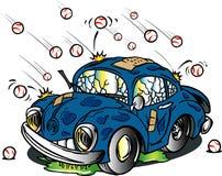 Autohit durch Hagel Lizenzfreie Stockfotos