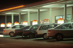 Autohopfenhamburgerstandplatz Lizenzfreie Stockbilder
