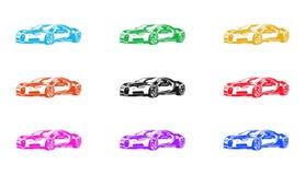 Autoikone, Zeichen, Illustration 3D Lizenzfreies Stockfoto