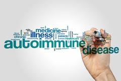 Autoimmune disease word cloud Royalty Free Stock Photos