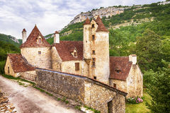 Autoire-Dorf frankreich Lizenzfreie Stockbilder