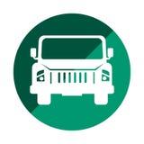 Autojeep-Fahrzeugikone Lizenzfreies Stockbild