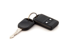 Autokey. Car key and alarm system charm, close up on a white background Stock Images