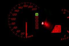 Autokonsole in der Dunkelheit Stockbild